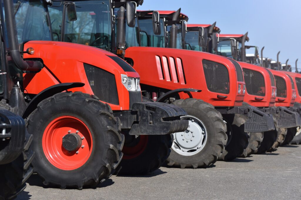 Farming equipment before it's about to be appraised